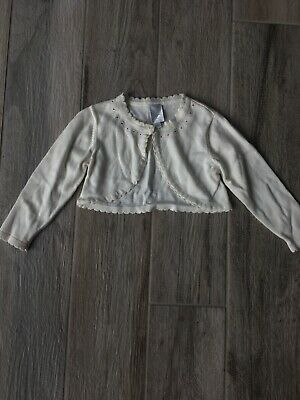 Girls Cream Cropped Cardigan Jasper Conran Junior Age 18-24 Months