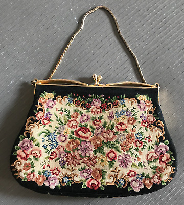 Gorgeous Vintage Needle point Evening Bag - in VGC