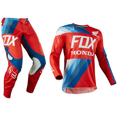 Fox Racing 360 Motocross MX Set Hose Trikot - 2018 Honda Rot