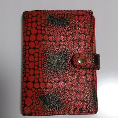 Louis Vuitton Yayoi Kusama Monogram Dots Agenda PM Cover Red Used from JPN F/S