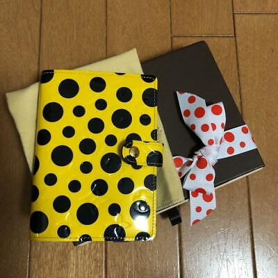 Louis Vuitton Yayoi Kusama Infinity Dots Agenda PM Cover Yellow Never Used FS