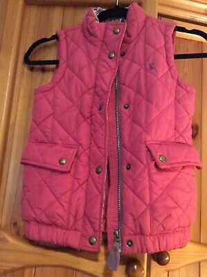joules girls gilet age 7 pink