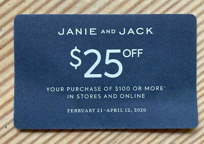 Janie & Jack $25 Off $100 or More In Store And Online Coupon EXP 4/12
