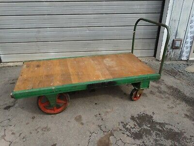 Fairbanks  HQ-3672 Industrial Steel Bound Rolling Platform Truck / Cart