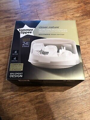 Tommee Tippee Closer to Nature Microwave Steam Steriliser - 4 Bottles In 4 Mins