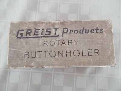 Greist Rotary Buttonholer Sewing Machine Attachment In Box with Instructions