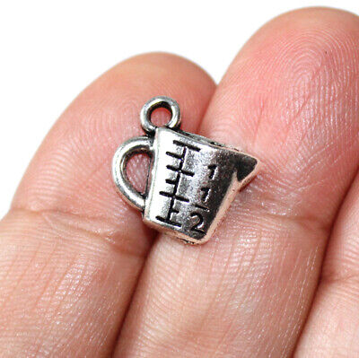 30pcs Measuring Cup charms silver tone Measuring Cup charm pendants 13x15mm