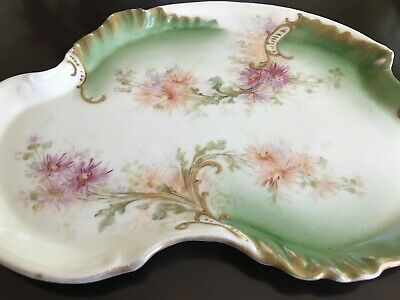 Antique William Guerin & Co. Limoges France Hand Painted Dresser Vanity Tray