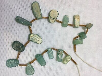 Ancient Roman Glass Pendant Antiques Old Rare Beautiful Beads 1800 + Years Bc
