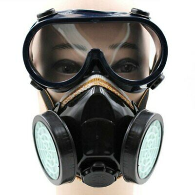 Gas Mask Survival Safety Respiratory Emergency Filter Protection Dual 2 Goggles
