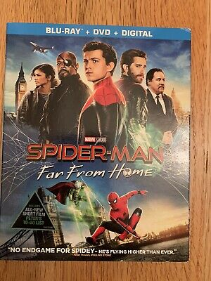 Spiderman Far From Home DVD Blu-Ray Digital Cide New!