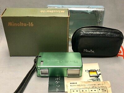 Minolta 16 Green Model I Subminiature Spy Camera like new in box