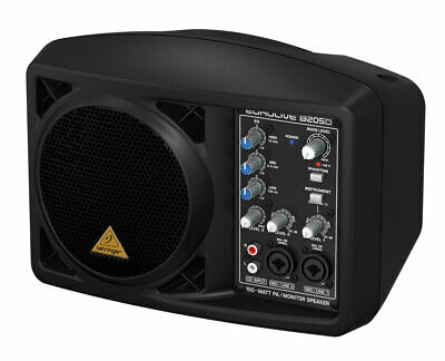 Behringer B205D Ultra-Compact 150-Watt Active Powered PA/Monitor Speaker System