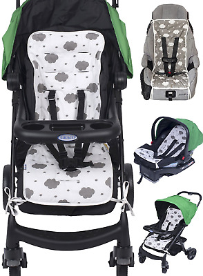 Reversible Pure Cotton Universal Baby Seat Liner for Stroller, Car Seat, Jogger,