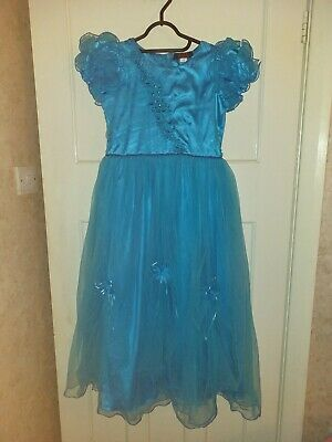 Girls Light Blue Party Special Occasion Dress Age 13 Years