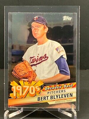 2020 Bert Blyleven Topps Series 1 Decades Best Chrome