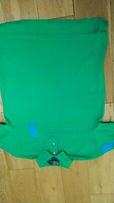 Mens designer Ralph Lauren polo medium green