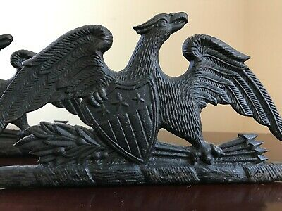 Pair of Spread Eagle Cast Iron Bookends VA Metalcrafters 1952
