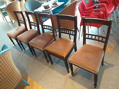 JAMES SHOOLBRED London makers label ANTIQUE CHAIR circa 1890 AESTHETIC MOVEMENT