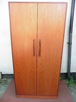 RETRO G.PLAN TEAK DOUBLE DOOR WARDROBE FROM THEIR FRESCO RANGE CIRCA 1950 / 70s