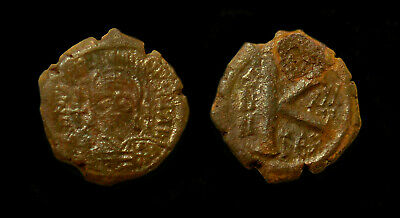 JUSTINIAN I Half Follis Thessalonica (21 mm, 5.9 gr)