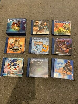 Job Lot 9 Sega Dreamcast Games Inc. Sonic, Shenmue, House Of The Dead