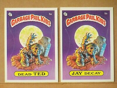 1985 Garbage Pail Kids Series 1 DEAD TED & JAY DECAY