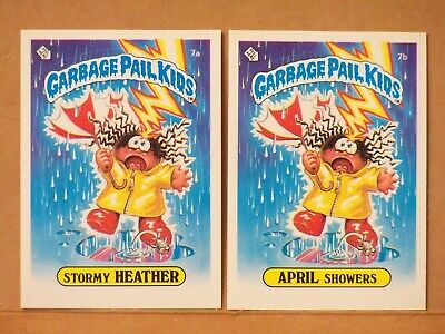 1985 Garbage Pail Kids Series 1 STORMY HEATHER & APRIL SHOWERS