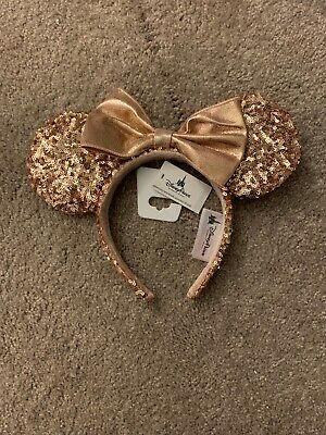 Disney Parks Rose Gold Minnie Mouse Ears Sequin Headband Discontinued! - NWT