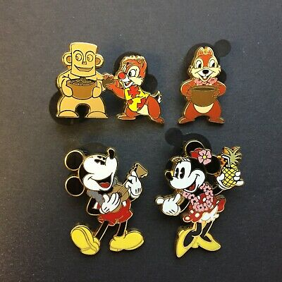 DVC Aulani 4 Pin Set - Chip Dale Mickey Minnie Mouse Disney Pin 86294