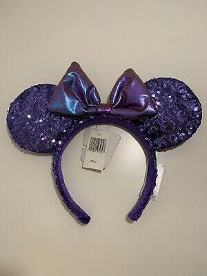 Disney Parks Purple Potion SEQUINED Minnie Mouse Ears NWT