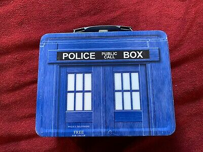 Doctor Who Police Box Tardis Metal Lunch Box Pail