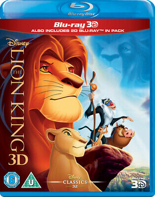 The Lion King Blu-Ray (2014) Roger Allers cert U 2 discs FREE Shipping, Save £s