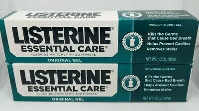 Listerine Essential Care Fluoride Toothpaste Gel 2 Pack
