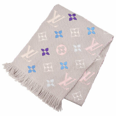 LOUIS VUITTON Esharp Logomania Monogram pattern stall Scarf M75874 wool silk