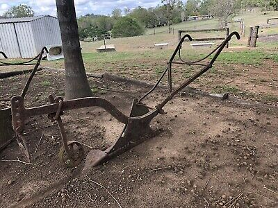 A ladies horse drawn hand plough ideal garden feature very old and rustic