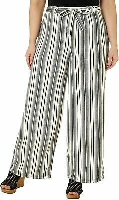 Hot Kiss Juniors Plus Belted Vertical Striped Pants