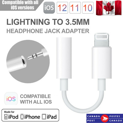 Lightning to 3.5mm AUX Headphone Jack Adapter Audio Cable for iPhone 11 X/XS/XR