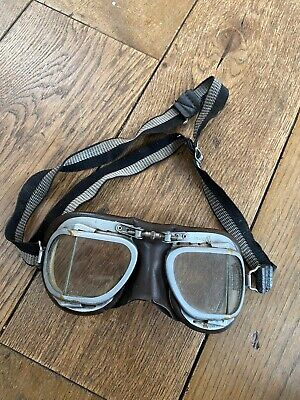 VINTAGE STADIUM MARK 9 SUPERJET MOTORCYCLE GOGGLES CLASSIC Pilot Ww11 Spitfire