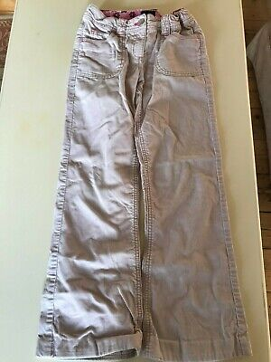 Lovely Girls Mini Boden pale pink corduroy flared trousers, 9-10 years