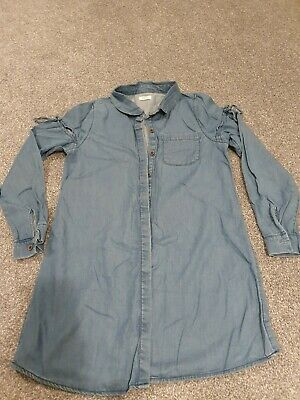 Next Girls Denim Shirt Dress/Long Top Age 10 years NEXT