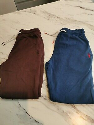 NEXT boys 2X joggers Blue and Plum good condition age 9