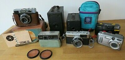 Vintage Job Lot of Cameras Olympus Trip 35 Kodak Minolta Cosmic 35 Photography