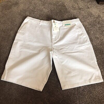 JOULES | UK 20 | White Chino Shorts | Super Stretch | BNWT