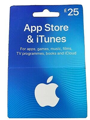 itunes gift card uk £25