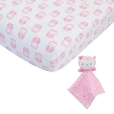 Bed Sheet Carters Child of Mine Girl Lovey and Crib Sheet Gift Set Female Pink