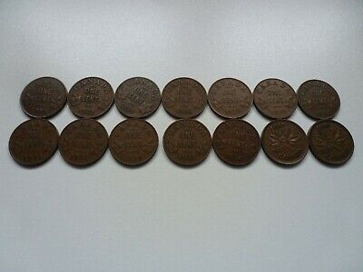 1920 To 1938 Lot 1 Cent Canada
