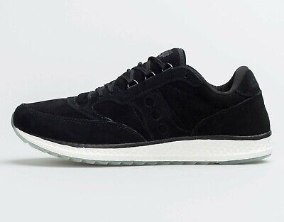 SAUCONY FREEDOM RUNNER SUEDE BLACK WHITE ICE SOLE MENS SIZE SNEAKERS S40001-2