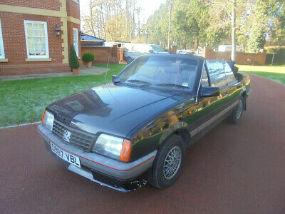 1986 D Reg Vauxhall Cavalier 1 8I Automatic Cabriolet Black Barn Find No Reserve