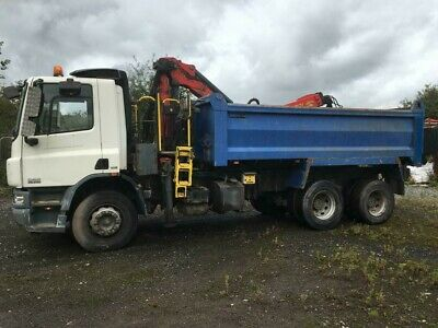2009 Daf 75 310 6 X 4 Tipper With Grab Crane REDUCED